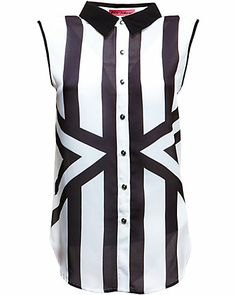 Betsey Johnson Striped Sleeveless Blouse