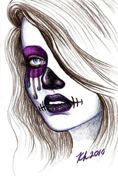 Day of the Dead drawing