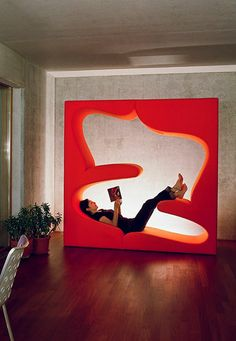 Moinian and Meili Residence by Felix Oesch featuring the Living Tower designed by Verner Panton for Vitra.