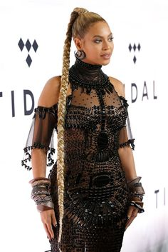 Beyonce at Tidal 1015 Concert Pictures October 2016 Beyonce Style, Beyonce And Jay, Beyonce Knowles, Casual Hairstyles, Ponytail Hairstyles, Girl Hairstyles, Beyonce Hairstyles, Quince Hairstyles, Beyonce Ponytail