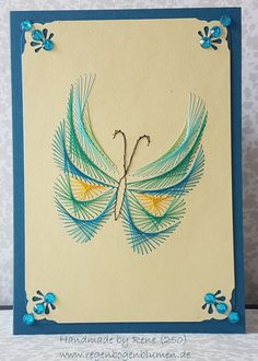 Latest Trend In Embroidery on Paper Ideas. Phenomenal Embroidery on Paper Ideas. Embroidery Cards, Creative Embroidery, Embroidery Patterns, Hand Embroidery, Card Patterns, Stitch Patterns, Pin Card, String Art Patterns, Prego