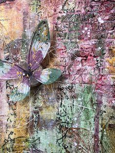 Textured Canvas with PaperArtsy Fresco Paint, Seth Apter Izink Ice, Tim Holtz Transparent wings Tim Holtz Blog, Dry Brush Painting, My Canvas, Canvas Crafts, Gold Paint, Medium Art, Hello Everyone, Art Tutorials, Art Blog