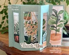 Plentiful Plants 1 stampin Up Stampin With Diane Evans Fancy Fold Cards, Folded Cards, Bloom Where Youre Planted, Up For The Challenge, Window Cards, Stampin Up Catalog, Card Making Tutorials, Some Cards, Creative Cards