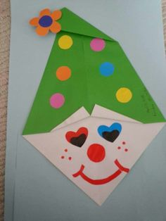 Clown craft ideas for preschoolers Clown Crafts, Carnival Crafts, Arts And Crafts Box, Diy And Crafts, Crafts For Kids, Preschool Art, Preschool Activities, All Things Christmas, Christmas Holidays