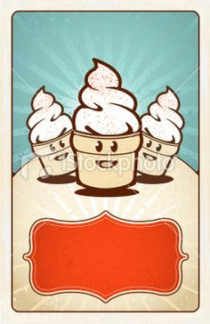 Ice Cream Cone Poster Royalty Free Stock Vector Art Illustration