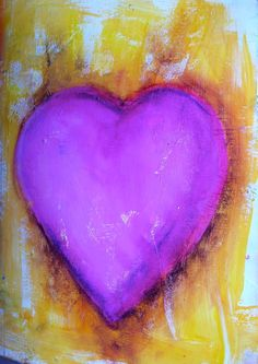 Heart I made with Donna at Donna Downey Workshop