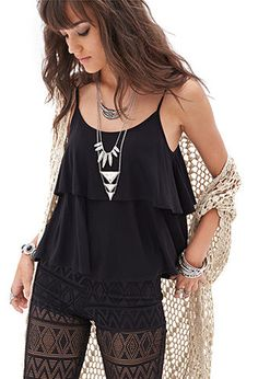 Flounced Knit Cami | FOREVER21 - 2000059073, while look, interesting