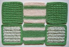 Dish Cloths Wash Cloths Knit and Crocheted by CozyKitchenKnits, $18.00