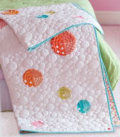 Designer Patty Young's quilt, Losing my Marbles, is full of whimsy and fresh fabrics.