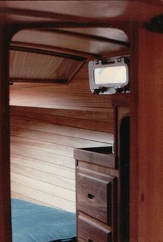 Sailboat interior built & designed by Fogg's Boatworks