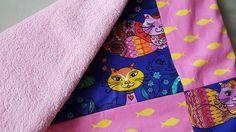 Katze: Schlafplätze - gefütterte Patchwork Katzendecke fürs Sofa - ein…