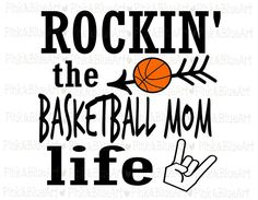 Rockin' the Basketball Mom Life SVG Clipart Cut Files Silhouette Cameo Svg for Cricut Vinyl File cutting Digital cuts file DXF Png Pdf Eps by PinkAndBlueArt on Etsy Basketball Shirt Designs, Basketball Mom Shirts, Basketball Pictures, Love And Basketball, Basketball Stuff, Softball Gifts, Cheerleading Gifts, Basketball Drills, Sports Shirts
