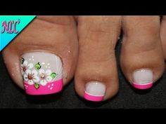 Toe Nail Art, Toe Nails, Toe Nail Designs, Beautiful Nail Art, Christmas Nails, Manicure, Lily, Make Up, Youtube