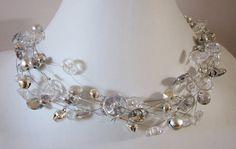SWINGING DIAMOND ketting van vintage knopen door BiancaEmanuel