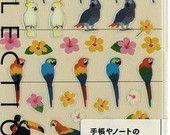 Kawaii Japan Sticker Sheet Assort: Mini Point Big Parrots and Cockatoos  https://www.etsy.com/listing/184592995/kawaii-japan-sticker-sheet-assort-mini?ref=shop_home_active_2