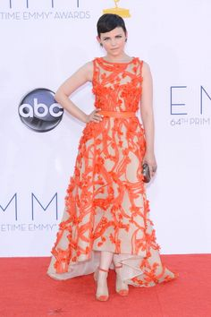 Ginnifer Goodwin in Monique Lhuillier at the 2012 Emmys