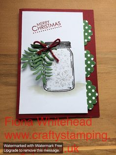 Crafty Stamping: JAR OF LOVE - CHRISTMAS IN JULY