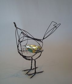 Wire Sculptures | Jill Walker. Tin Wing.