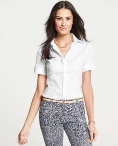 Perfect Stretch Cotton Short Sleeve Shirt