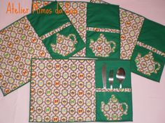 Jogo Americano Bule | Encomenda de Taty. | Fátima Espinheira | Flickr Sewing Tutorials, Sewing Crafts, Sewing Projects, Diy Crafts, African Home Decor, Place Mats Quilted, Mug Rug Patterns, Tablerunners, Sewing Box