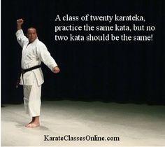 A class of twenty karateka, practice the same kata, but no two kata should be the same!