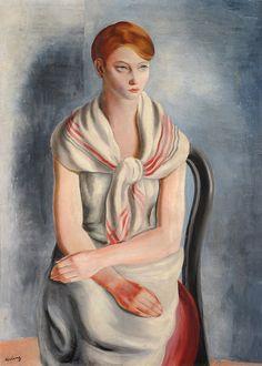 Moïse KISLING (1891-1953), Jeune Sanaryenne, 1926, Huile sur toile, 100 x 73 cm