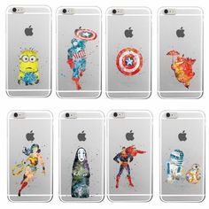 Wonder Women Superman Batman R2-D2 BB-8 Captain America Soft TPU Phone Case Coque For iPhone 7Plus 7 6 6S 5 5S SE 5C 4 Samsung