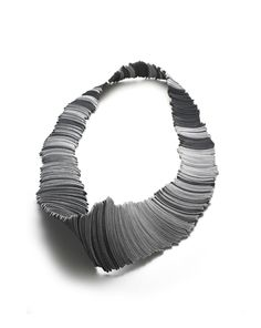 Yong Joo Kim - Neckpiece - Reconfiguring the Ordinary: Rounded, Aligned and Twisted - Velcro and Thread Jewelry Art, Silver Jewelry, Jewelry Design, Hidden Beauty, Muse Art, Fabric Manipulation, Metal Clay, Contemporary Jewellery, Statement Jewelry