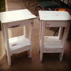 Pallet nightstand for Gracie