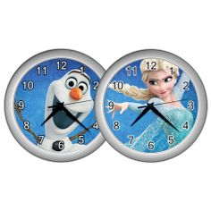 New Disney Frozen Theme Elsa Olaf  Wall Clock Decor Gift Idea for Kids Children #Unbranded #Modern