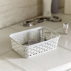 Faux-Rattan-Storage-Tray-Small from Lakeland