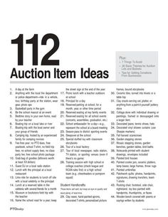 I like the idea of sending out an idea list, but we'd need to start with our own set of ideas.