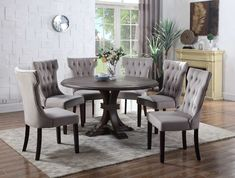 Found it at Wayfair - 5 Piece Dining Set Kitchen Dining Sets, Diy Dining Table, 7 Piece Dining Set, Dining Room Sets, Dining Room Design, Diy Esstisch, Round Back Dining Chairs, Dinette Sets, Dining Furniture