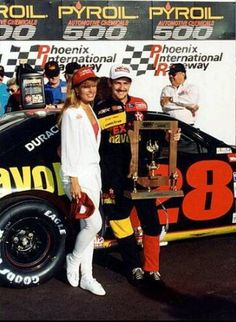 Davey Allison wins at PI R