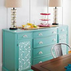 love the look of this refurbished dresser