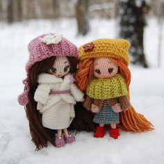 WEBSTA @ tamhippopo - Вышли в лес ненадолго. А совсем скоро дальняя дорога... #crochetdoll #вязанаякукла #amigurumi #амигуруми