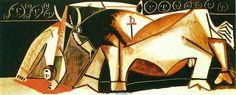 Bullfighting Scene (The picador raised) - Pablo Picasso