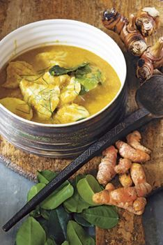 Cambodian-style fish poached in coconut milk a la Kylie Kwong. Didn't have the galangal, so substituted ginger + birds eye chili. Served with brown rice it was very well received. Best Chicken Recipes, Fish Recipes, Seafood Recipes, Asian Recipes, Cooking Recipes, Healthy Recipes, Ethnic Recipes, Chinese Recipes, Savoury Recipes