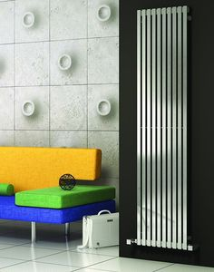 Only Radiators offers this Reina Xenia Stainless Steel Vertical Designer Radiator - Satin to you at this great price, get top Customer Care & Free UK Delivery Stainless Steel Radiators, Bathroom Radiators, Vertical Radiators, Autocad, Cool Kitchens, Wall, Modern, House, Leicester