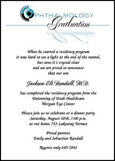 Doctor of Physical Therapy Graduation Announcement Wording at