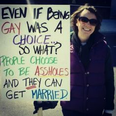 The Most Hilariously Effective Signs Supporting Gay Marriage   Happy Place