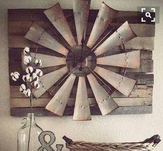 Farmhouse Remodel, Farmhouse Chic, Farmhouse Kitchens, Windmill Clock,  Windmill Wall Decor, Barn Houses, Wall Design, Western Decor, Rustic Decor