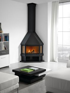 36 Cool Living Room Design Ideas With Fireplace To Keep You Warm This Winter - Kamin Idee Corner Gas Fireplace, Wooden Fireplace, Cottage Fireplace, Victorian Fireplace, Stove Fireplace, Living Room With Fireplace, Fireplace Design, Grey Fireplace, Fireplace Ideas
