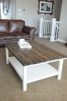 DIY Farmhouse Coffee Table