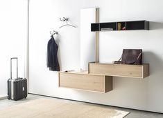 MODO - Designer Mirrors from Sudbrock ✓ all information ✓ high-resolution images ✓ CADs ✓ catalogues ✓ contact information ✓ find your nearest. Hallway Storage, Storage Shelves, Dressing Table Mirror Design, Floating Nightstand, Floating Shelves, Modern Entry, Hallway Furniture, Condo, Small Dining