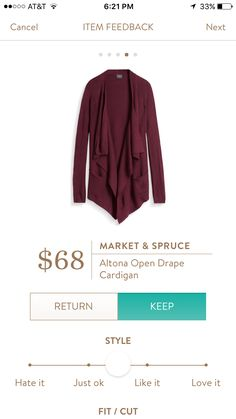 Market & Spruce cardigan. I love Stitch Fix! A personalized styling service and it's amazing!! Simply fill out a style profile with sizing and preferences. Then your very own stylist selects 5 pieces to send to you to try out at home. Keep what you love and return what you don't. Only a $20 fee which is also applied to anything you keep. Plus, if you keep all 5 pieces you get 25% off! Free shipping both ways. Schedule your first fix using the link below! #stitchfix @stitchfix. Stitchfix Fall…