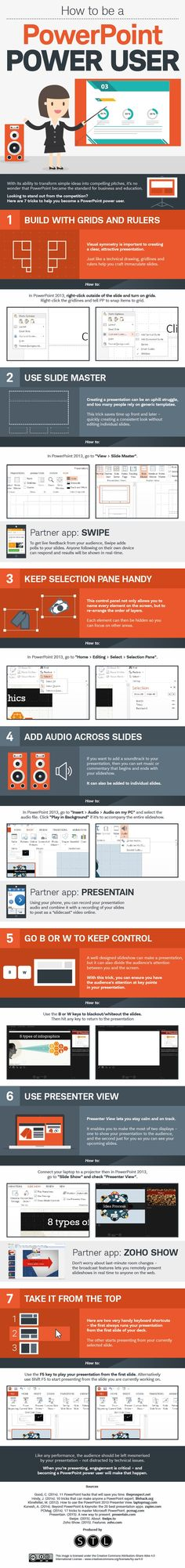 How to Be a PowerPoint Power User #infographic ~ Visualistan