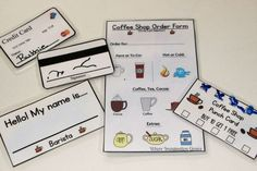 Coffee Ship Pretend Play for Kids with Free Printables!