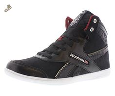 Reebok Women's BB 7000 Mid Lace-Up Fashion Sneaker,Black/White/Mesa Red/Flint Grey Metallic,9 M US - Reebok sneakers for women (*Amazon Partner-Link)