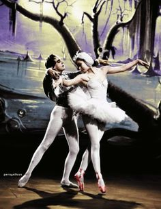 """Bobby Helpmann and Moira Shearer in """"The Red Shoes"""" ~ Swan Lake inspired Sequence-Still - 1945"""